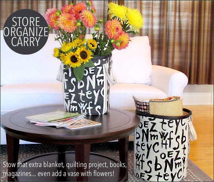 Tall, Bold Storage Bins: Home Decor At Fabric Depot | Sew4Home