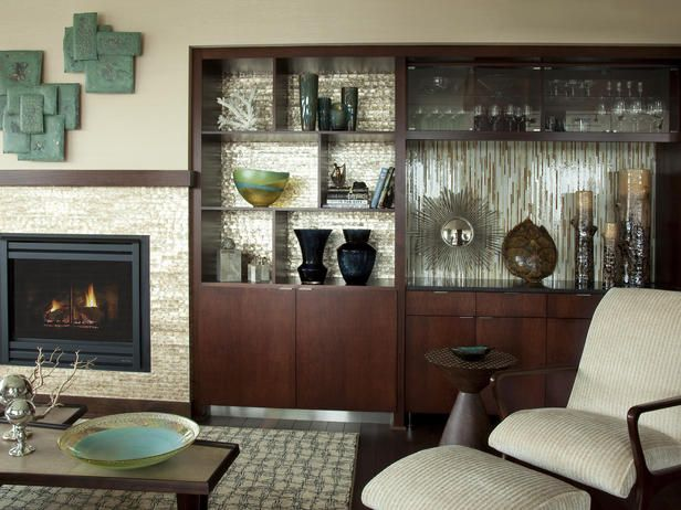 Glass Showcase Designs For Living Room 10 Colorful Tile Fireplaces  Living Rooms Tiled Fireplace And