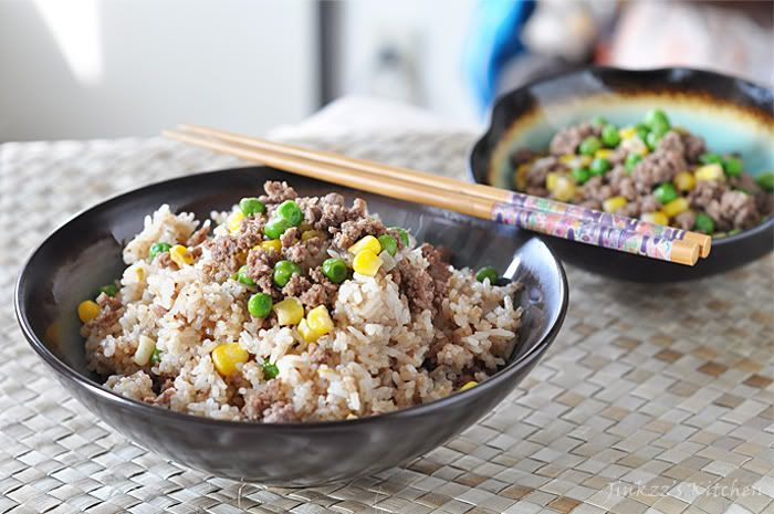 Ground Beef Fried Rice Beef Dinner Eat Beef Beef Recipes