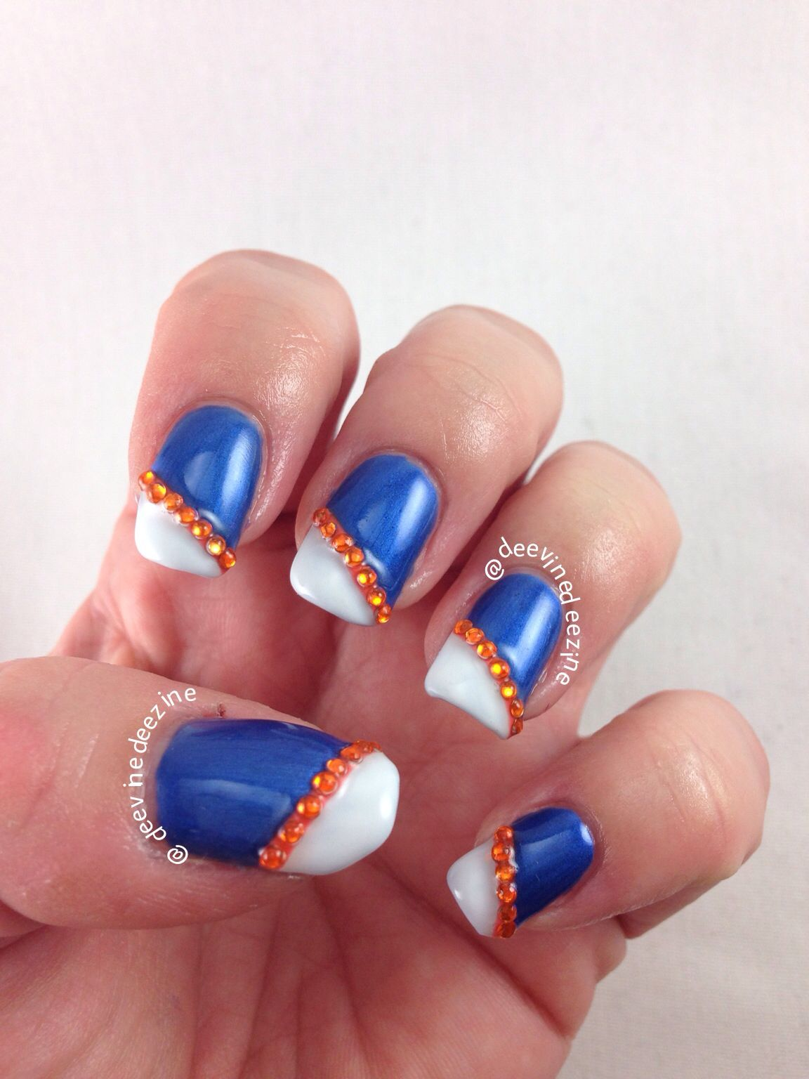 Florida Gator Nail Art | SPORTS NAIL ART | Pinterest | Manicure ...