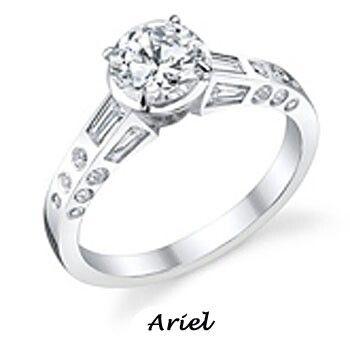 Ariel Themed Wedding Ring