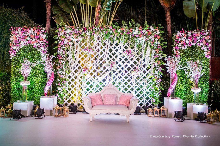 Amrita And Bhisham Taj Lands End Mumbai Weddings Weddingsutra Reception Backdrop Diy Wedding Backdrop Wedding Reception Decorations On A Budget