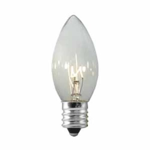 club pack of 25 c9 transparent clear replacement christmas light bulbs