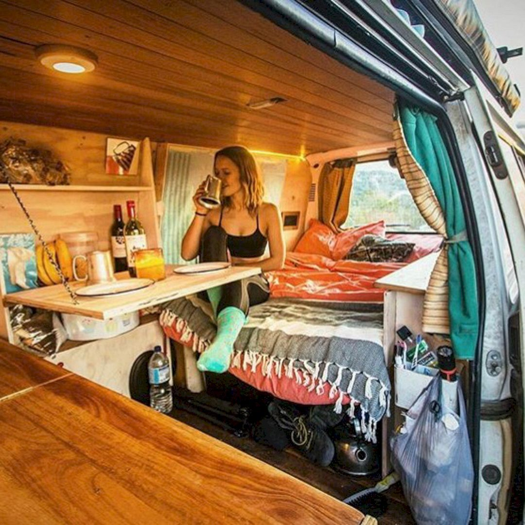 80 Best And Low Budget RV Hacks Makeover Remodel Table Ideas Camper Van ConversionsChevy