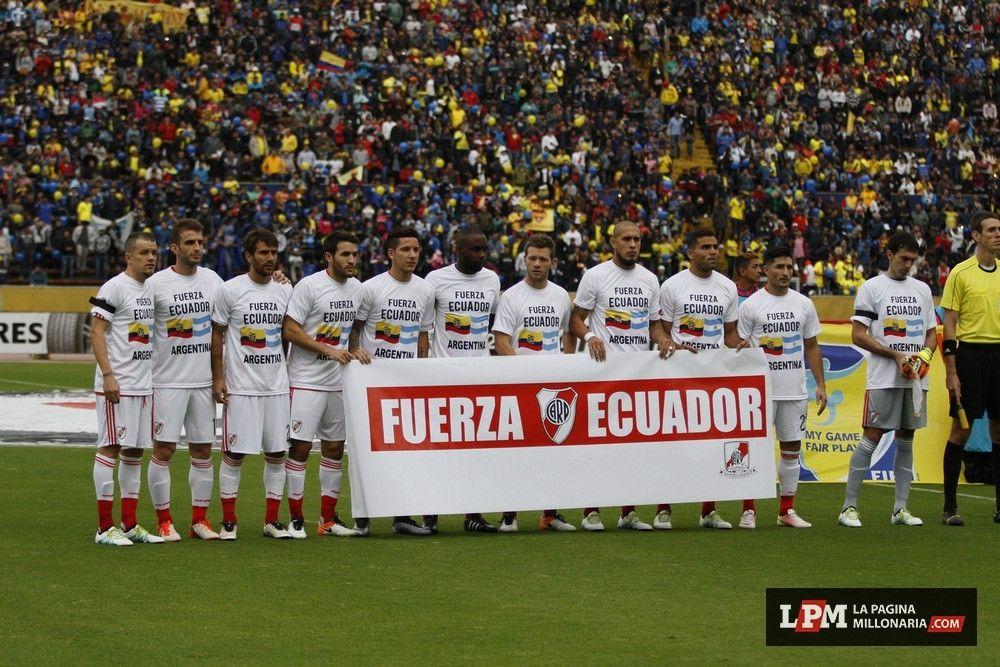 Titulares para el partido de Ida por los Octavos de final dee la Copa Libertadores. Gran Gesto de River  Pero River Plate perdió 2- 0 Getty