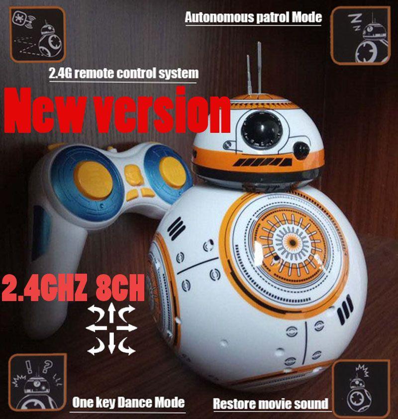 2.4GHZ 8CH upgrade version Star Wars 7 RC BB-8 BB8 remote control rc ...
