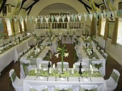 10 Sage Green Organza Table Runners Wedding Decoration