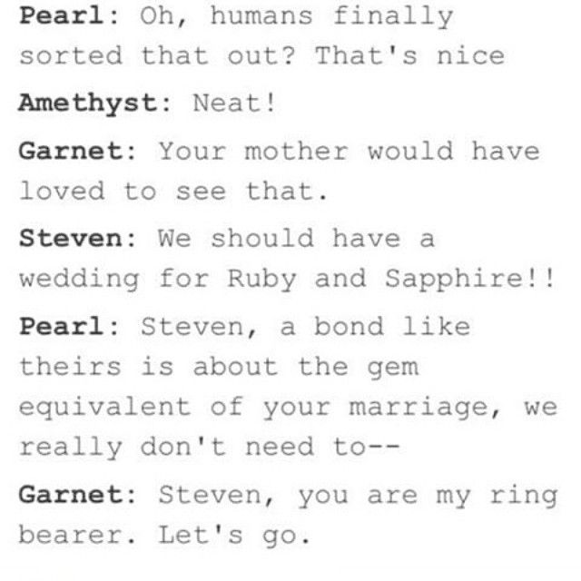 There Needs To Be A Wedding Episode With Images Steven