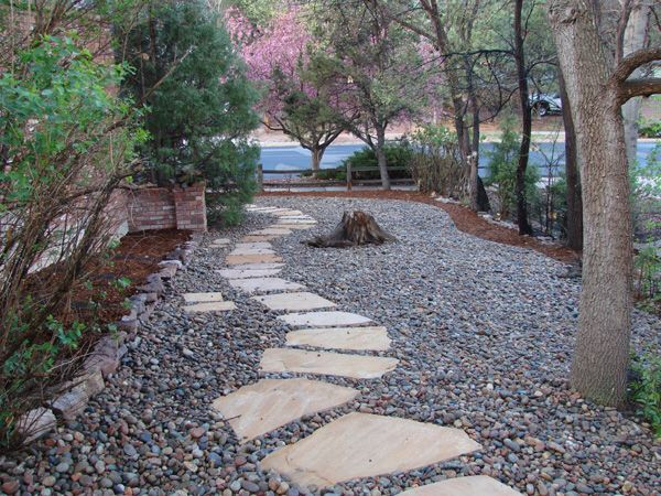 Limestone Rocks And River Rock Around Fire Pit Yard Projects In
