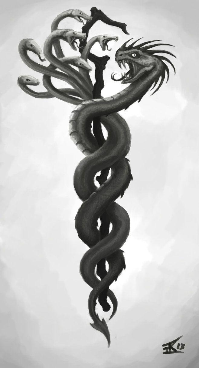 Greek Hydra Tattoo : greek, hydra, tattoo, Hydra/Basikisk, Tattoo, Sketch, KTK87, DeviantArt, Sketches,, Tattoos,, Greek, Mythology, Tattoos