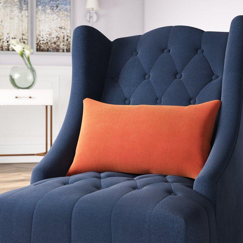Edwards velvet 12 lumbar pillow chair and ottoman