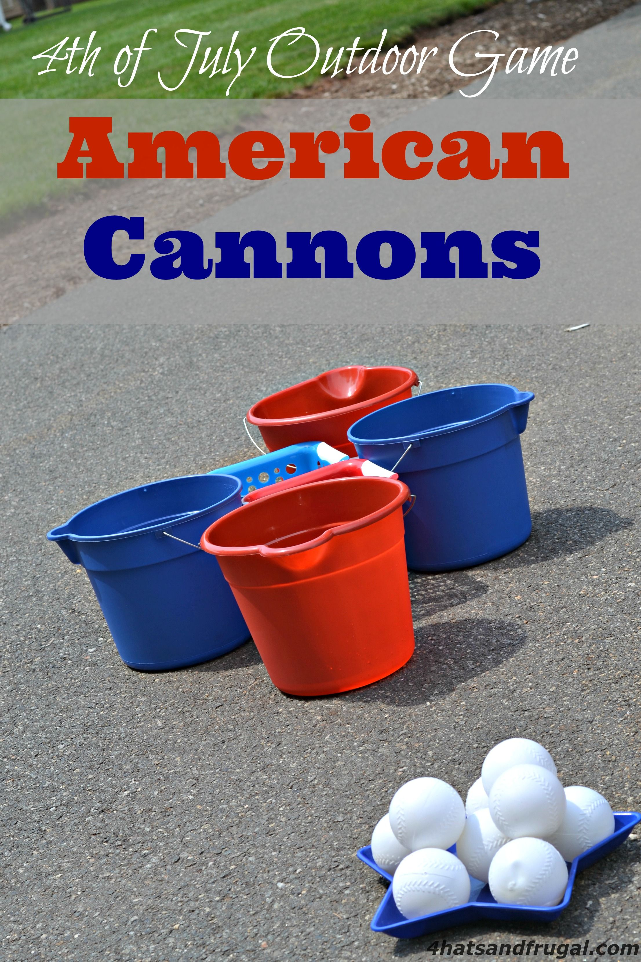 American Cannons 4th of July Outdoor Game 4th of july