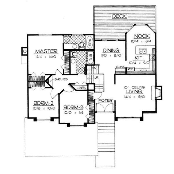 Flr Ddilr904041 600 Jpg 600 600 Tri Level House House Plans Split Level Floor Plans