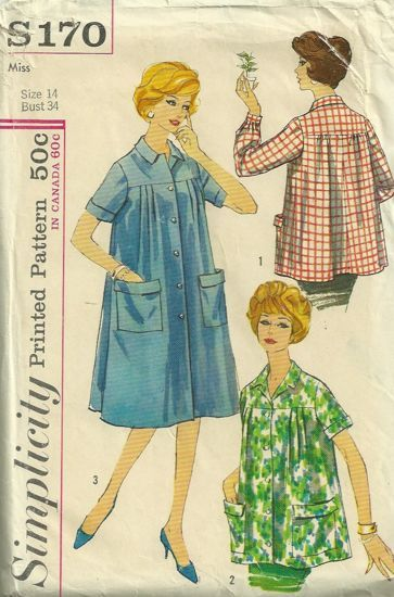 1930s Style Maternity Wrap Around Dress Custom Made in Your Size From a Vintage Pattern