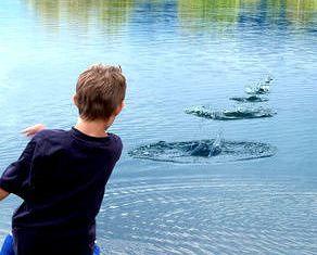 Like Skipping Stones Across the Water… | Stone, Childhood memories, Lake  life