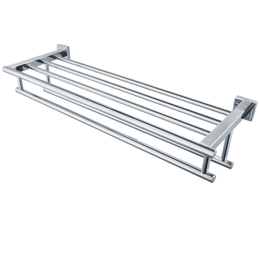 Kes 24-Inch Stainless Steel Bathroom Shelves Towel Rack With Double ...