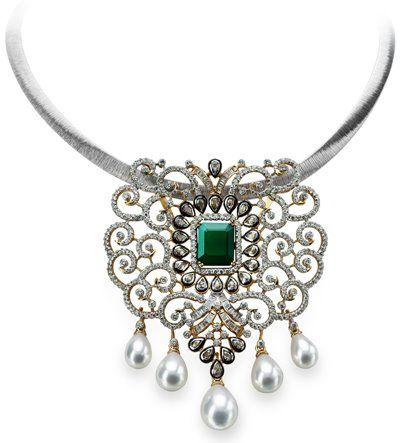 Gold and Diamond jewellery designs tbz