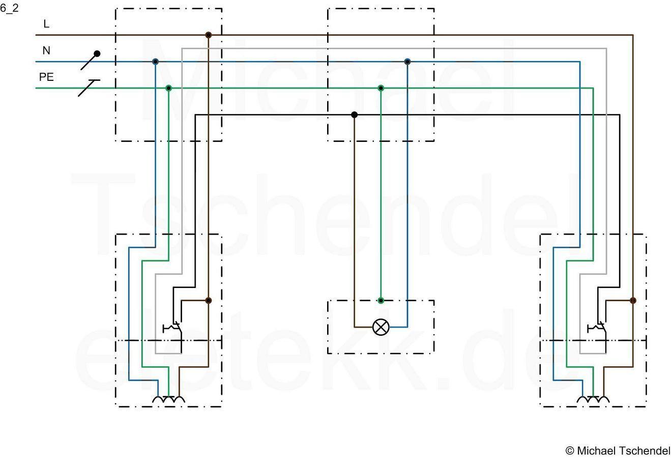 sparwechselschaltung mit steckdosen steckdosen elektro. Black Bedroom Furniture Sets. Home Design Ideas