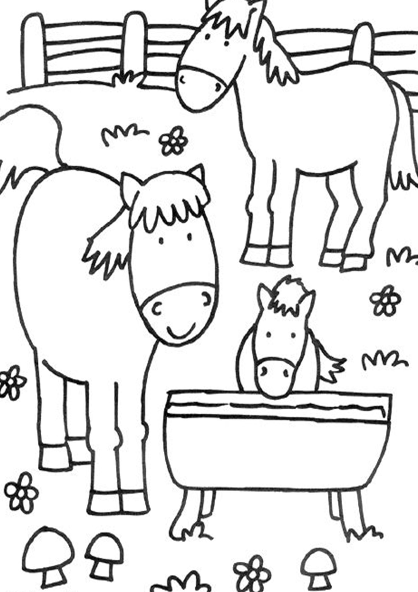 Free Easy To Print Farm Coloring Pages Farm Coloring Pages Farm Animal Coloring Pages Coloring Pages [ 2048 x 1448 Pixel ]