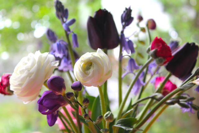 little woollie: Flowers for you.....