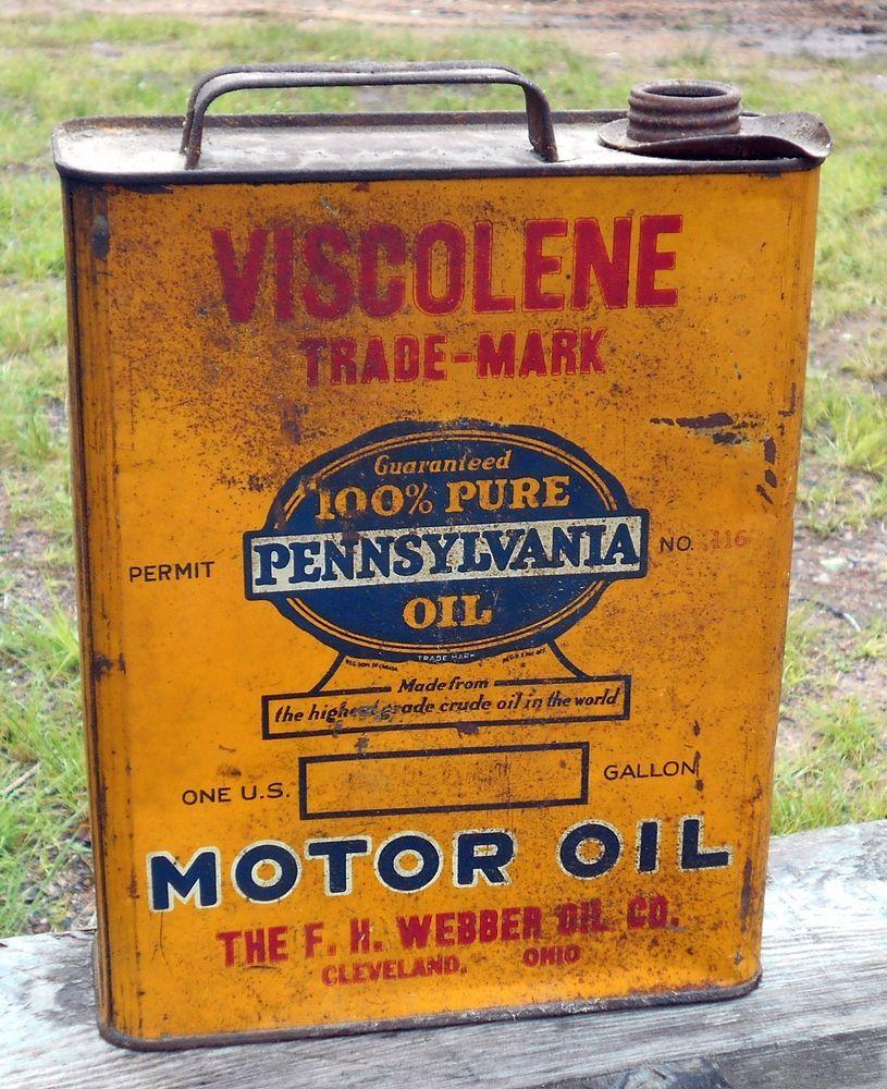 Rare Viscolene Pure Pennsylvania Oil Webber Cleveland