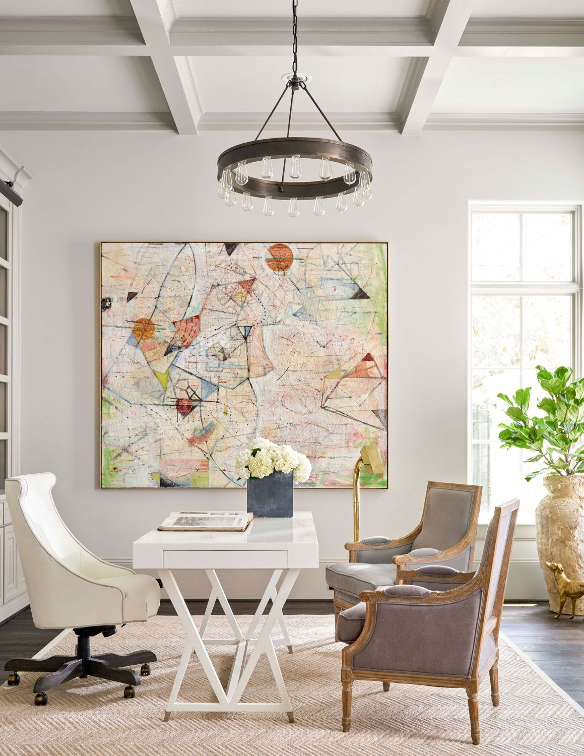 Soothing Houston Home Home Office Furniture Home Office Design