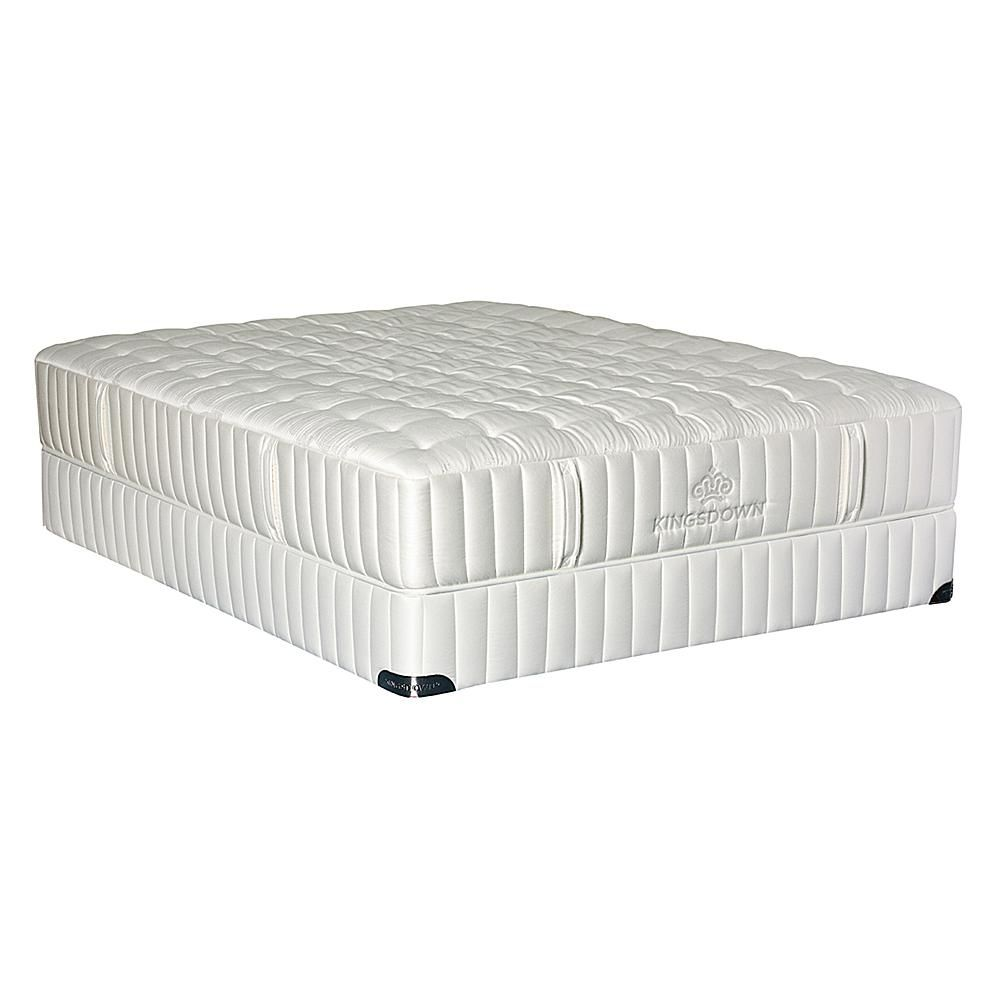 kingsdown vintage synchrony hybrid plush mattress set cal king