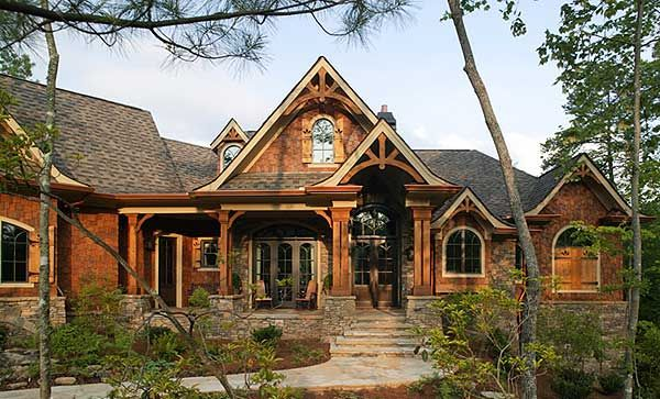 Best seller with many options 15662ge craftsman for Mountain vacation home plans