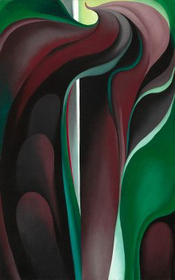 Georgia O'Keeffe, Jack-in-Pulpit Abstraction-No. 5, 1930,  on ArtStack #georgia-o-keeffe #art