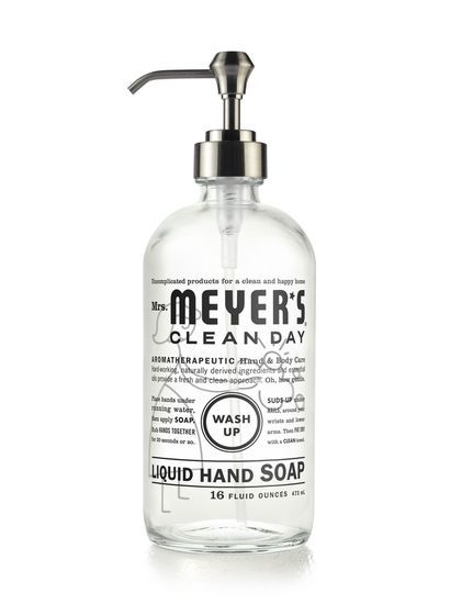 Mrs Meyer S Clean Day Glass Hand Soap Bottle Is A Refillable