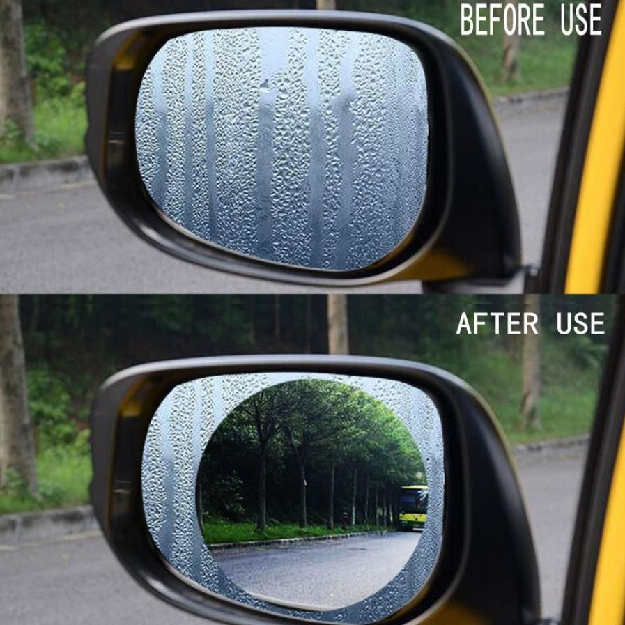 Nano Safety Drive Universal Auto Goods Anti Fog Window Clear Protection Rainproof Car Rearview Mirror Stickers Film