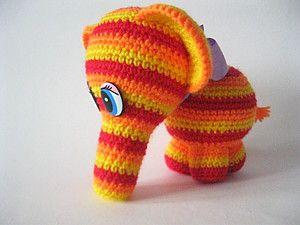 Мастер-класс: радужный слоник крючком - Ярмарка Мастеров - ручная работа, handmade