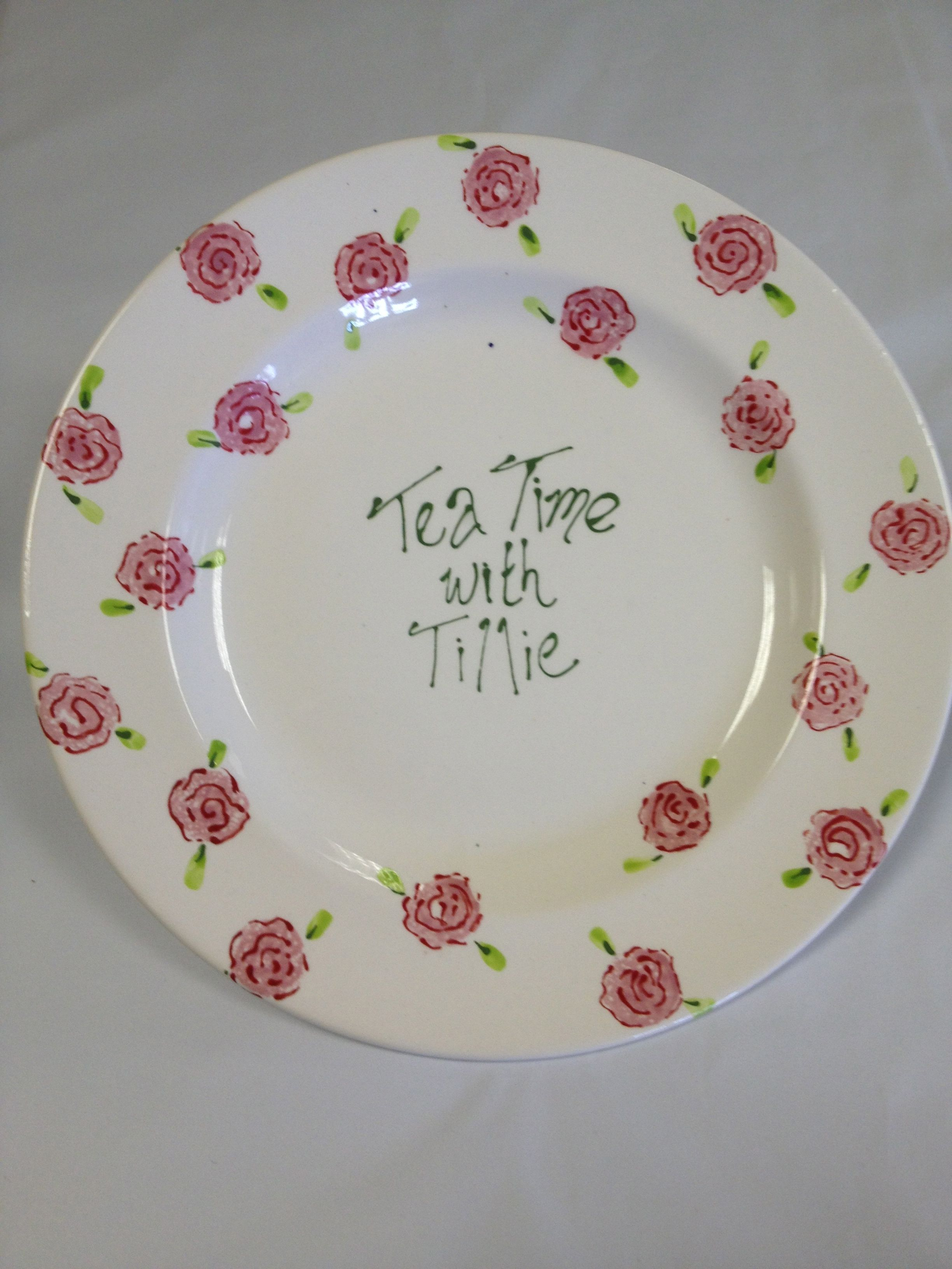 Sample Painted For Www Lovethelittlethings Co Uk Pottery Painting Paint Your Own Pottery Decorative Plates