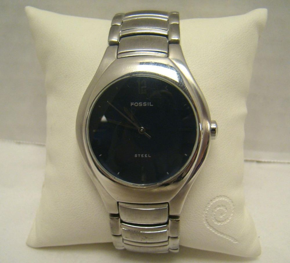 5928080ebdd5 FOSSIL FS-2689 MEN S STAINLESS STEEL WATCH INVISIBLE DOUBLE LOCK CLASP NAVY  BLUE  Fossil  FS2689