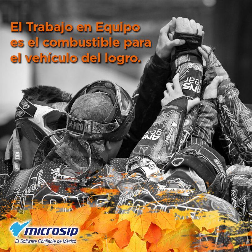El trabajo en equipo es el combustible para el vehículo del logro.