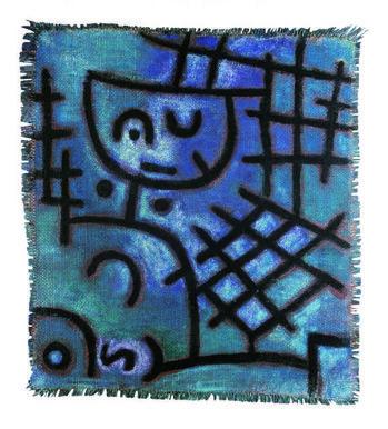 Ohne Titel (Gefangen/Diesseits–Jenseits/ Figur)(Untitled, Captive/Figure of This World–Next World) Paul Klee