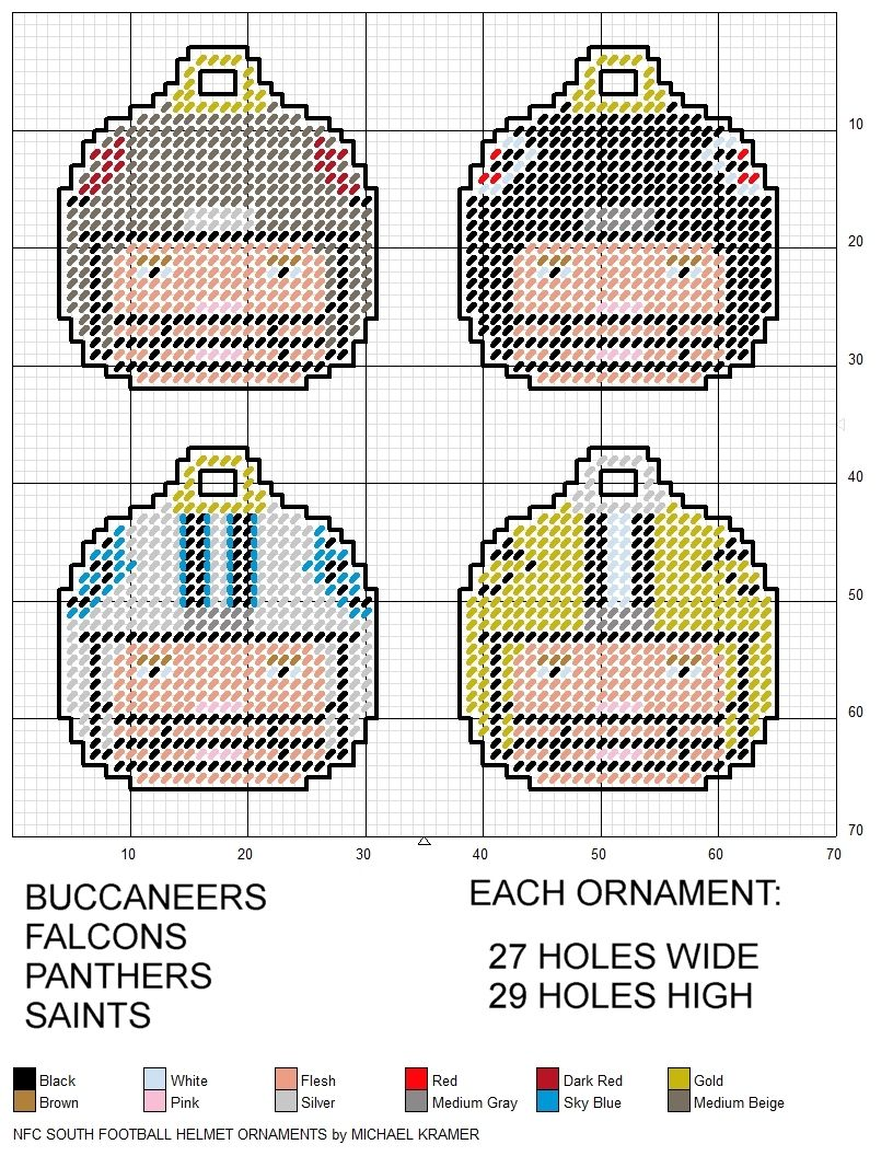 """WHEN IN DOUBT PUNT 3/"""" ornament Football helmet framed counted cross stitch"""