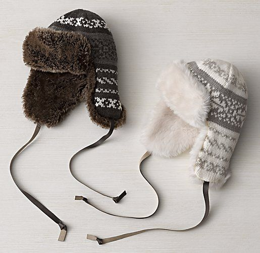 RH Baby and Child - Fair Isle & Luxe Faux Fur Hat | For the Kids ...