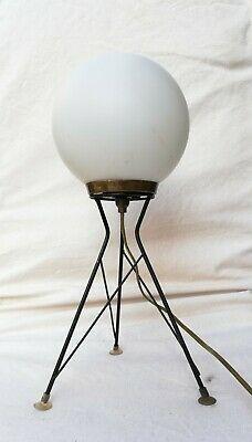 Tavolo In Vetro Usato.Dettagli Su Tripod Stilnovo Table Lamp Lampada Da Tavolo Vetro