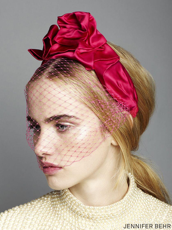 Swarovski Crystal-embellished Veiled Headband - Baby pink Jennifer Behr v3aA5OuDsA