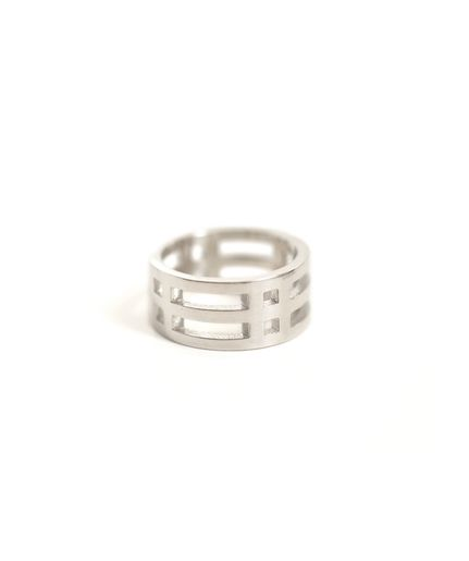 AEA Jewelry - Stackable Barrel Ring in sterling silver, available at Lust Covet Desire $115
