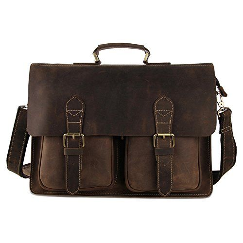 Crazy Horse Leather Men Briefcase Bag in Brown Generic http://www.amazon.com/dp/B00VJOHQVW/ref=cm_sw_r_pi_dp_Pcilvb0M7XHDN