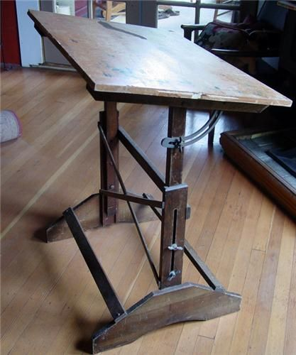 Industrial Anco Bilt Drafting Table, Vintage Wood Artists Desk This Is Too  Cool! The Real Thing, This Has Two Stamps That State This