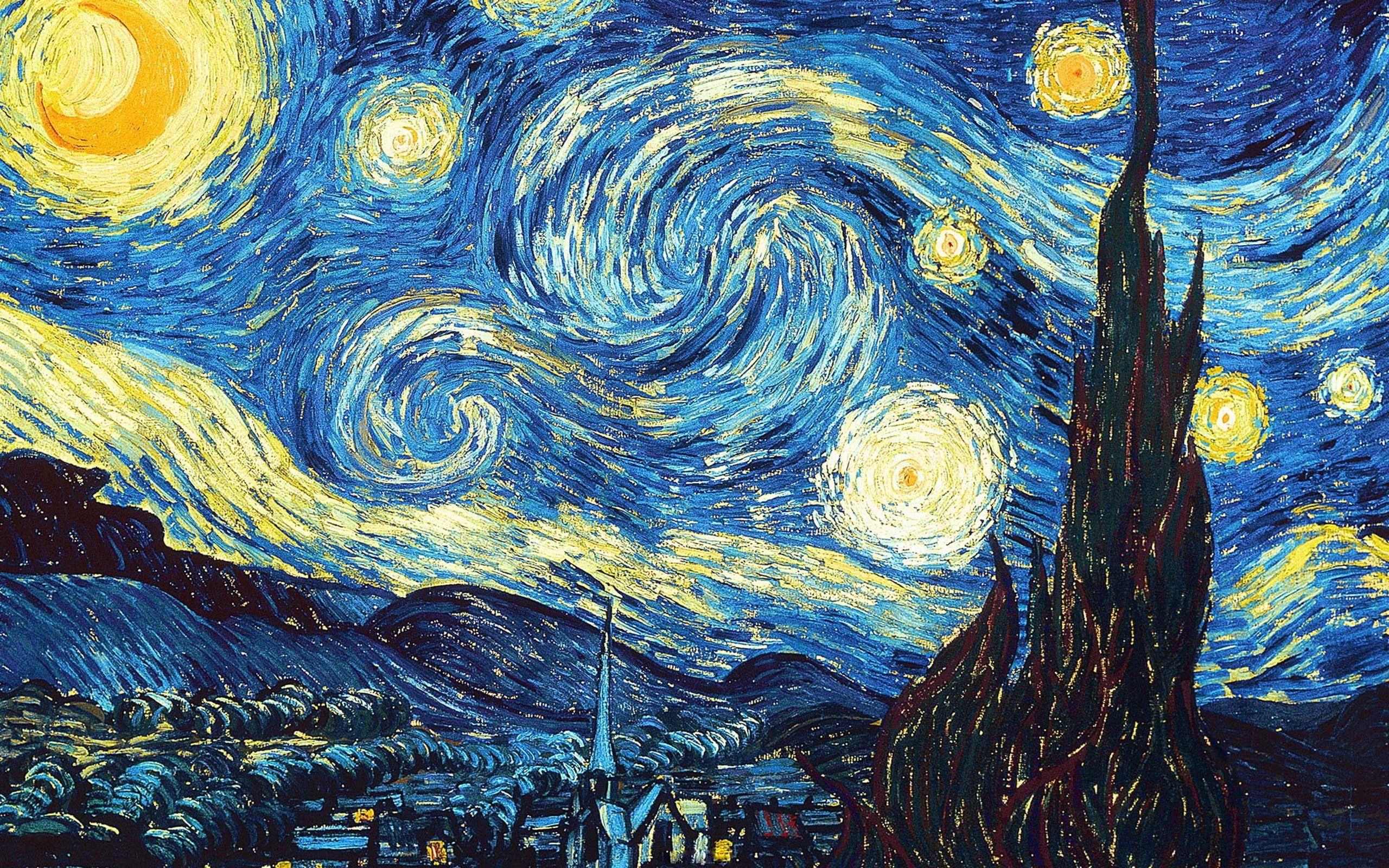 Classy Fantasy Art The Starry Night Vincent Van Gogh 2k Wallpaper Hdwallpaper Desktop In 2020 Starry Night Van Gogh Van Gogh Wallpaper Starry Night Wallpaper
