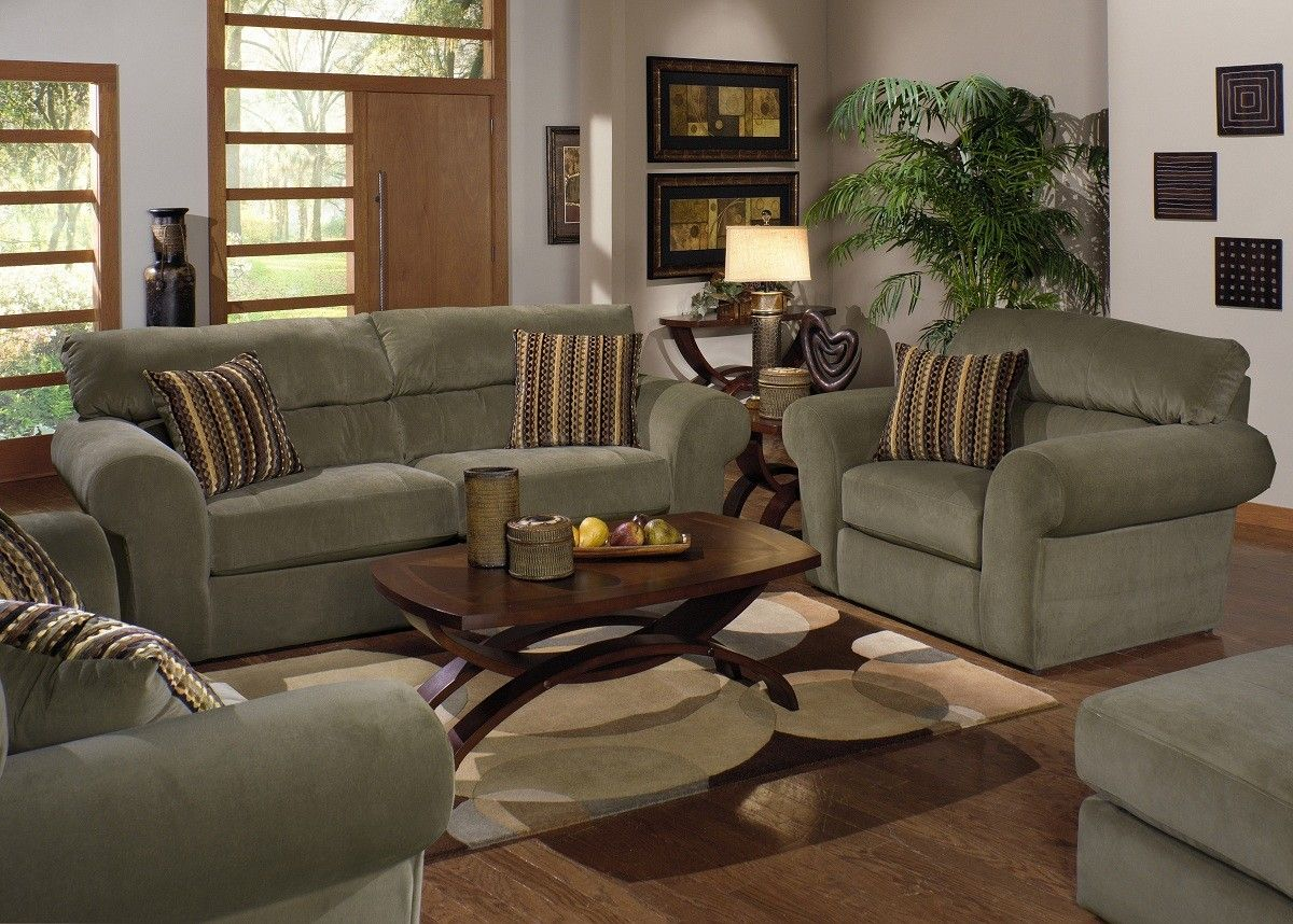 Jackson Furniture   Mesa 3 Piece Living Room Set In Sage/Java
