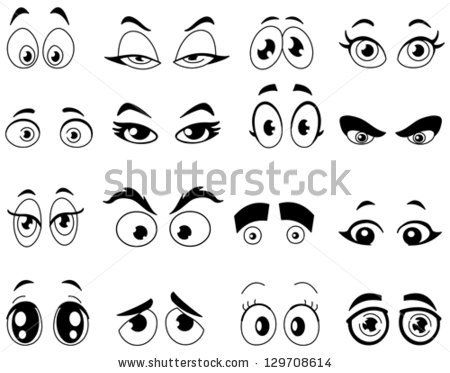 Outlined cartoon eyes set by Yayayoyo, via ShutterStock | While ...