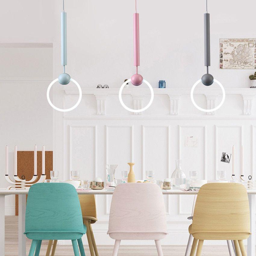 Best Modern Art Led Kitchen Dining Bar Pendant Light Circle 400 x 300