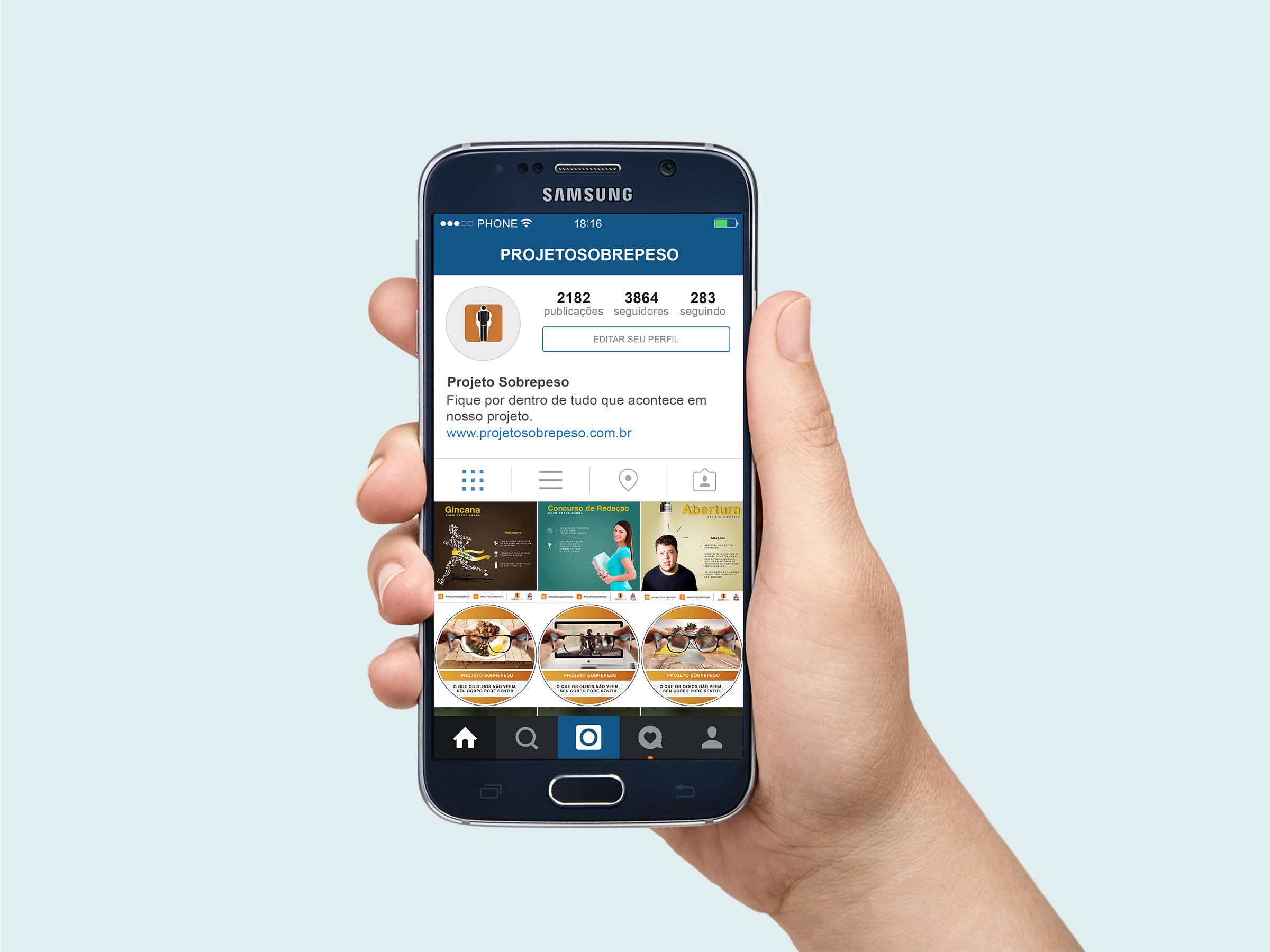 Mockup Instagram Redes sociais, Mockup, Samsung