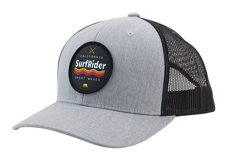 34e87f51d84da Amazon.com  Camoris Men s California Surf Rider Logo Baseball Cap Trucker  Hat (Black Grey)  Clothing