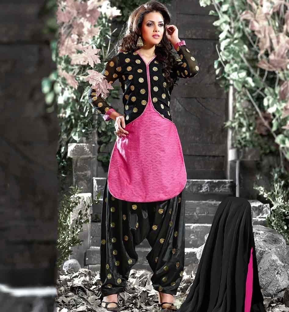 Punjabi salwar suits with jackets 2015 best patterned dress design ...